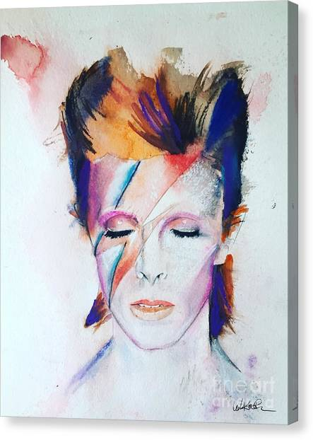 David Bowie Canvas Print - David Bowie by Leah Katherine