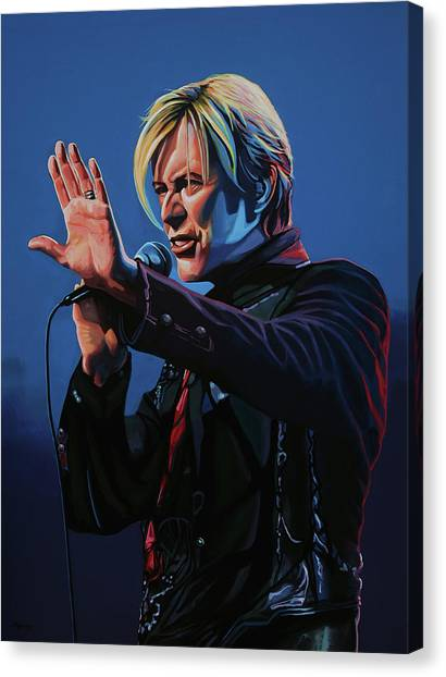 Queens Canvas Print - David Bowie Live Painting by Paul Meijering