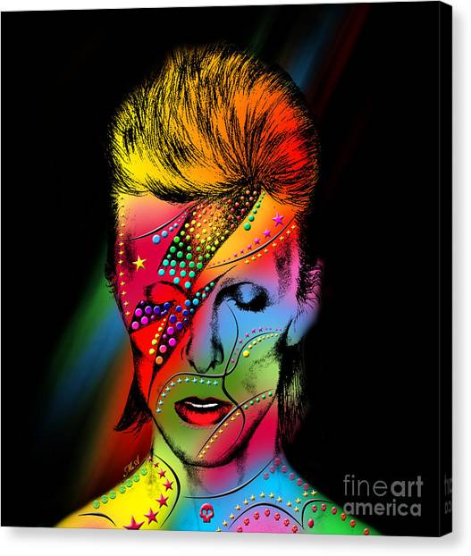 David Bowie Canvas Print - David Bowie by Mark Ashkenazi