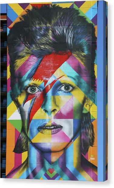 David Bowie Mural # 3 Canvas Print