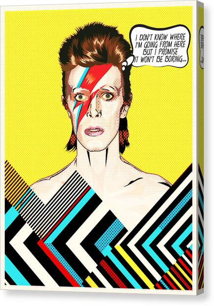 David Bowie Canvas Print - David Bowie Pop Art by BONB Creative