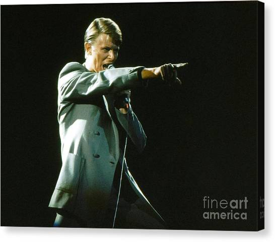David Bowie Canvas Print - David Bowie The Point by Sue Halstenberg