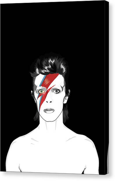 David Bowie Canvas Print - David Bowie Tribute by BONB Creative