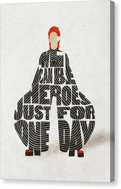 David Bowie Canvas Print - David Bowie Typography Art by Inspirowl Design