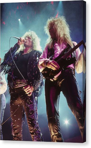 Whitesnake Canvas Print - David Coverdale And Adrian Vandenberg by Rich Fuscia