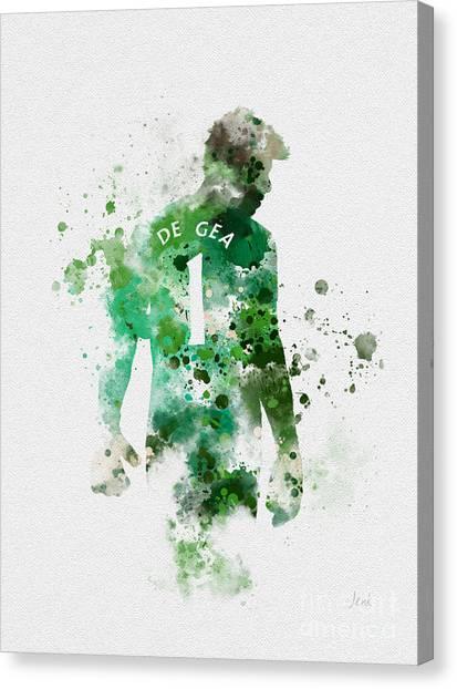 Manchester United Canvas Print - David De Gea by Rebecca Jenkins