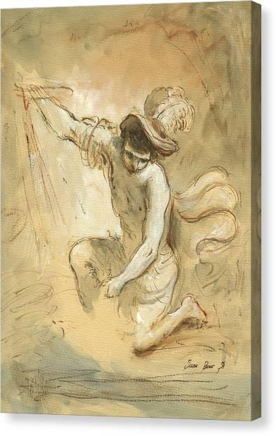 Old Masters Canvas Print - David Figure Drawing by Juan Bosco
