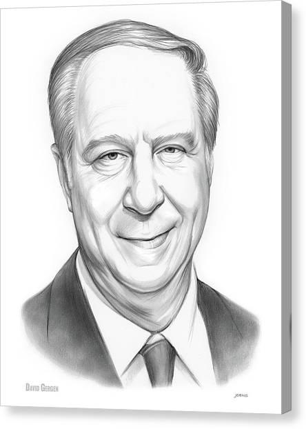 Political Canvas Print - David Gergen by Greg Joens