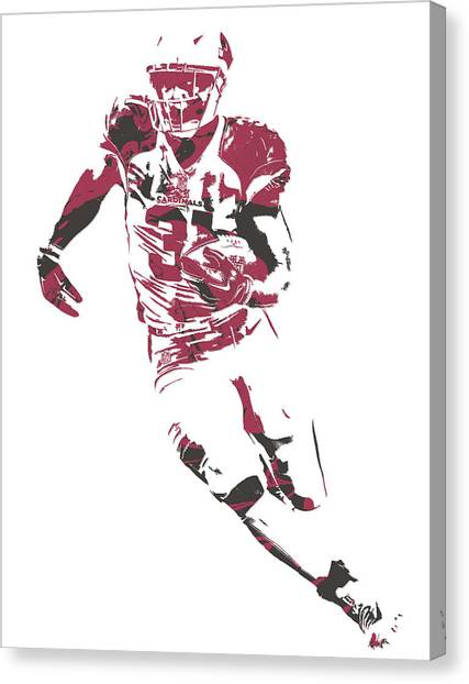 Arizona Cardinals Canvas Print - David Johnson Arizona Cardinals Pixel Art 1 by Joe Hamilton