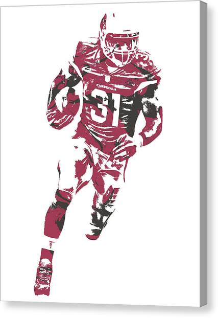 Arizona Cardinals Canvas Print - David Johnson Arizona Cardinals Pixel Art 2 by Joe Hamilton