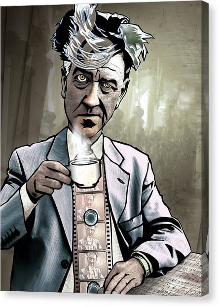 Print On Canvas Print - David Lynch - Strange Brew by Sam Kirk