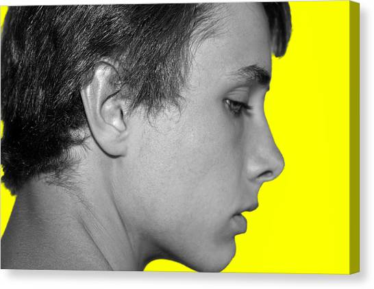 David R On Yellow Canvas Print