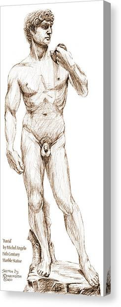 David Sketch Canvas Print by Khaila Derrington