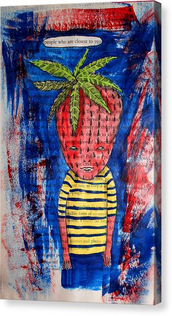 Sarah Palin Canvas Print - David The Strawberry Boy On Page From Sarah Palin Book by JoLynn Potocki