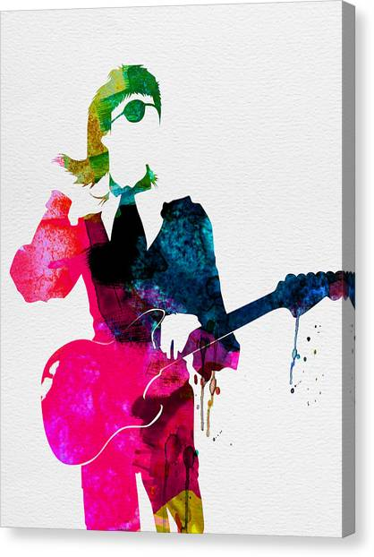 Rock Music Canvas Print - David Watercolor by Naxart Studio