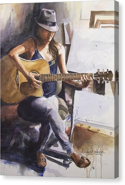 Dawb Leej - Studio Serenade Canvas Print by Douglas Trowbridge