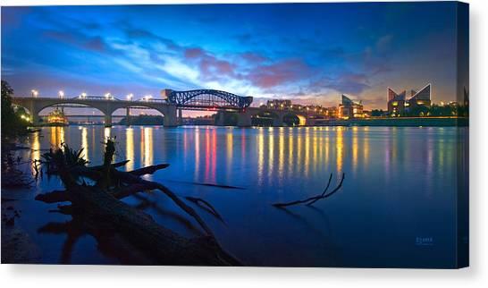 Dawn Along The River Canvas Print