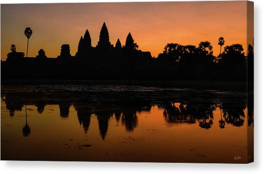 Canvas Print featuring the photograph Dawn At Angkor Wat by Stuart Gordon