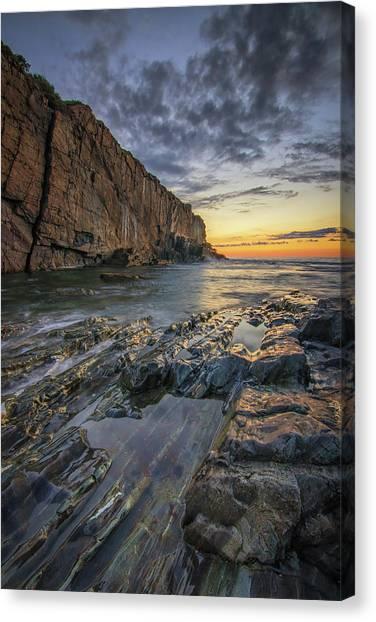 Dawn At Bald Head Cliff Canvas Print