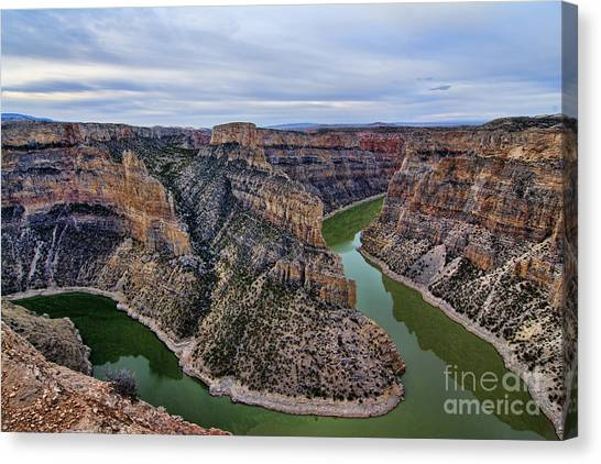 Dawn At Devils Overlook Bighorn Canyon Canvas Print