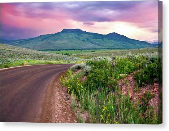 Dawn At Flattop Mountain Canvas Print