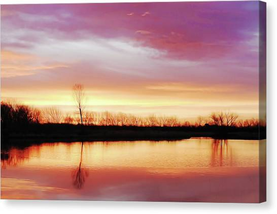Dawn At Hillside Canvas Print