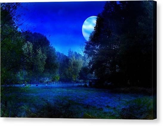 Dawn At Night Canvas Print