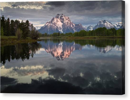 Dawn At Oxbow Bend Canvas Print