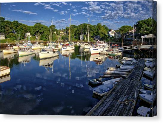Dawn At Perkins Cove - Maine Canvas Print
