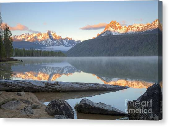Dawn At Redfish Canvas Print