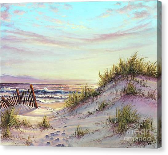 Dawn At The Beach Canvas Print