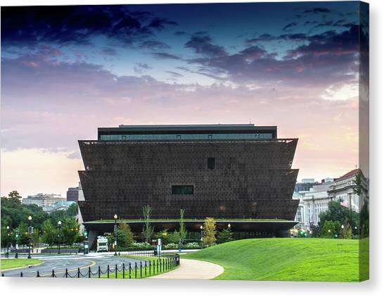 Dawn At The National Museum Of African American History And Culture.  No 1 Canvas Print