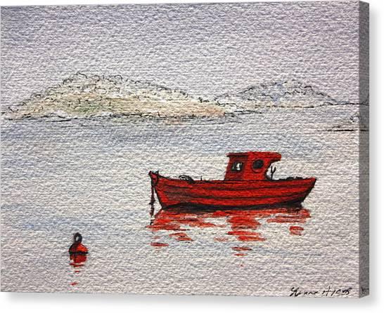 Dawn Fishing Canvas Print by Yvonne Ayoub
