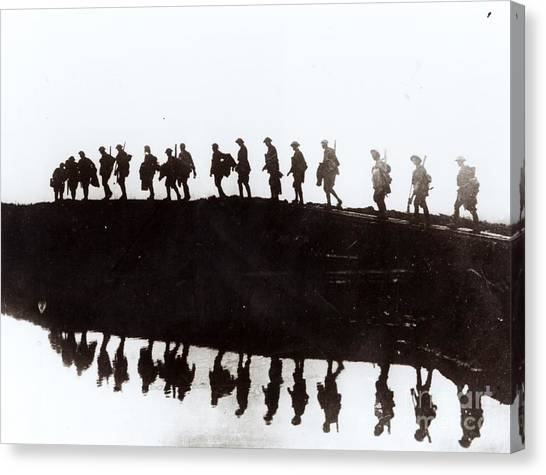 Wwi Canvas Print - Dawn March by Private Collection