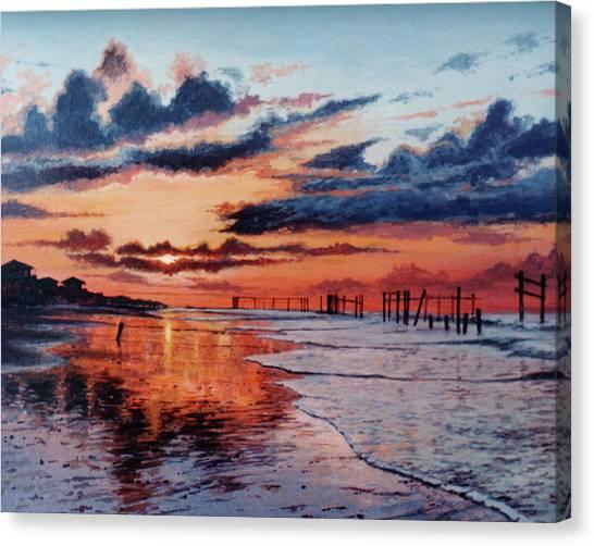 Dawn On Crystal Beach Canvas Print