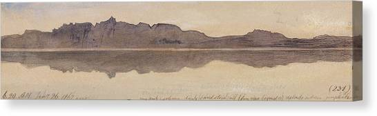 The Nile Canvas Print - Dawn On The Nile by Edward Lear