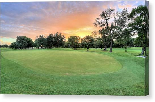 Hole In One Canvas Print - Dawn On The Putting Green by JC Findley