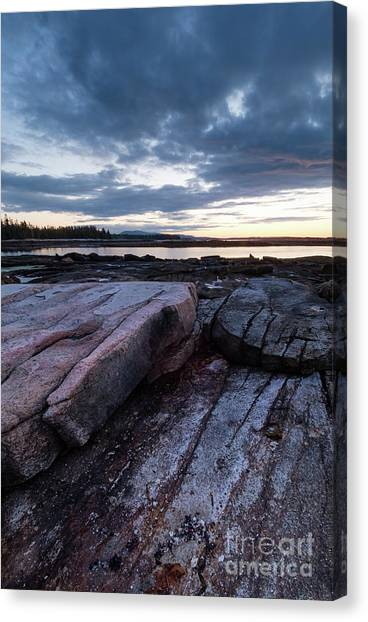 Dawn On The Shore In Southwest Harbor, Maine  #40140-40142 Canvas Print