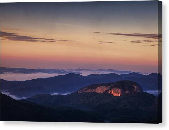 Pisgah National Forest Canvas Print - Dawn Over Looking Glass Rock by Andrew Soundarajan