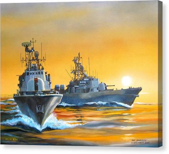 Dawn Run Canvas Print