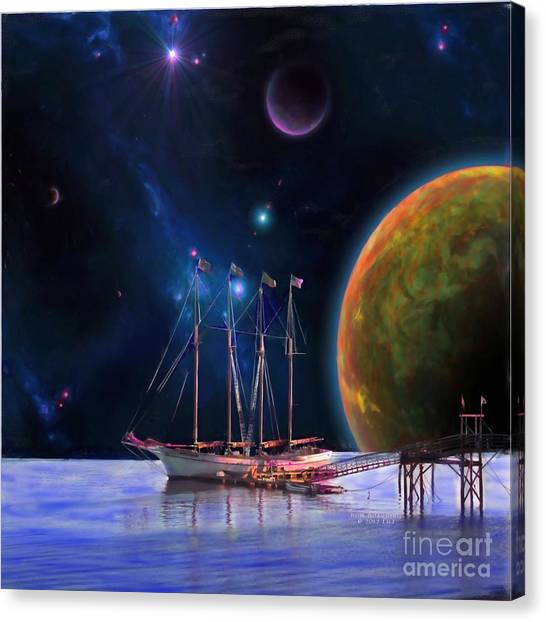 Dawn Treader Is Now Boarding Canvas Print by Earl Jackson