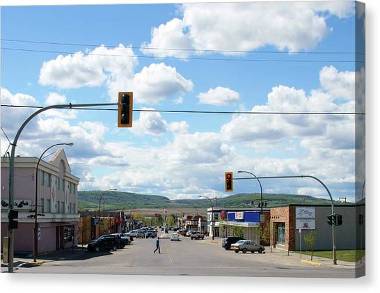 Dawson Creek British Columbia Canvas Print by Robert Braley