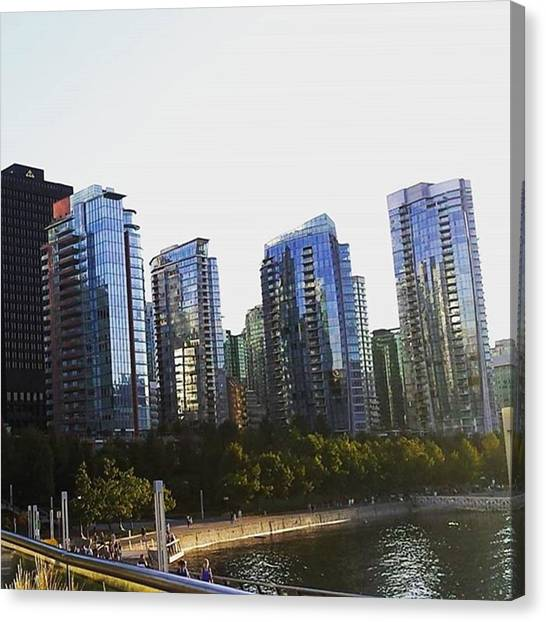 Vancouver Skyline Canvas Print - Day 2 In Vancouver. #skyline by Katharina Schneider