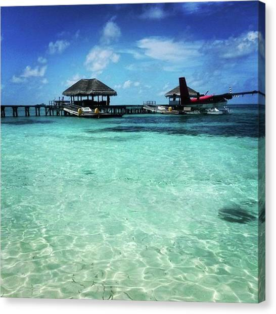 Seaplanes Canvas Print - Day 5 In Lux* #maldivesislands by Icemanphotos Icemanphotos