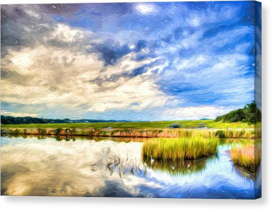 Day At The Marsh Canvas Print