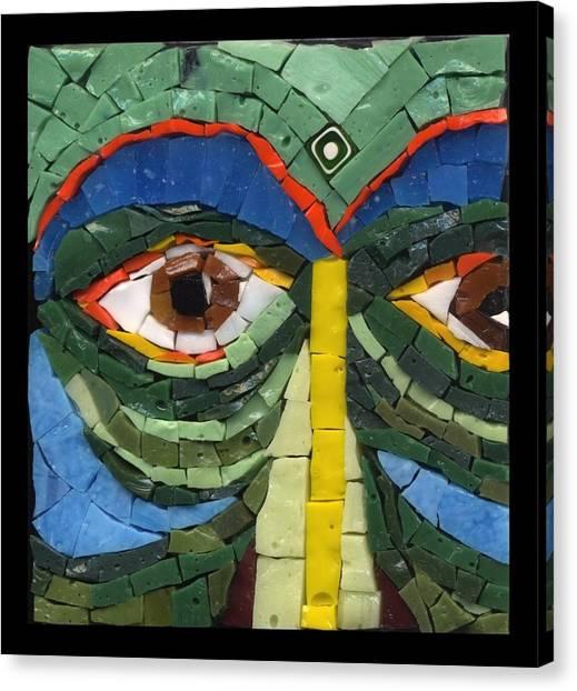 Day Dreamer - Fantasy Face No. 8 Canvas Print by Gila Rayberg