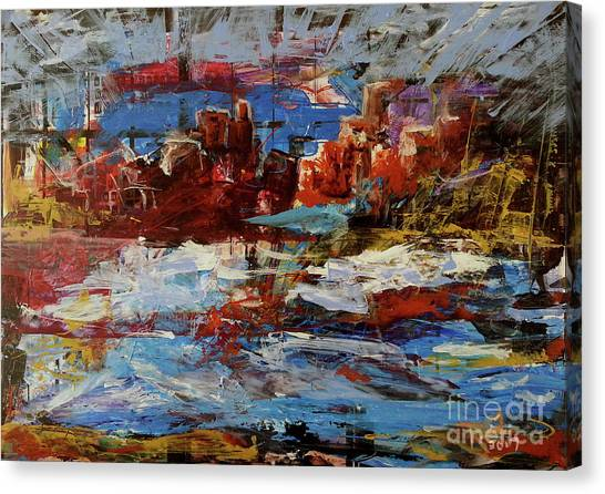 Canvas Print featuring the painting Day Dreaming Sedona Arizona by Reed Novotny