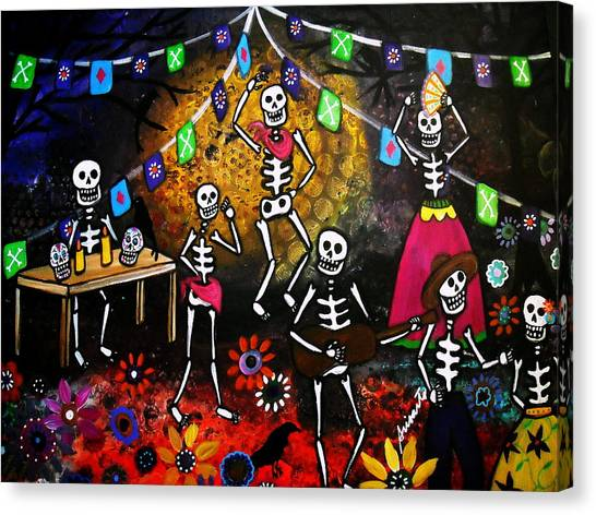 Day Of The Dead Festival Canvas Print