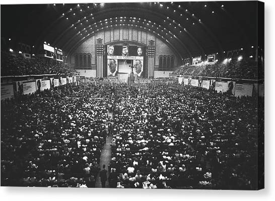 Lyndon Johnson Canvas Print - Day One At The Democratic National Convention 1964 by Library Of Congress