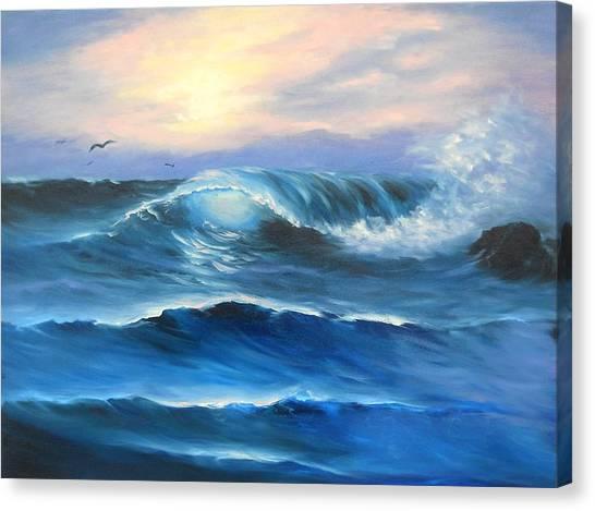 Daybreak At Sea Canvas Print